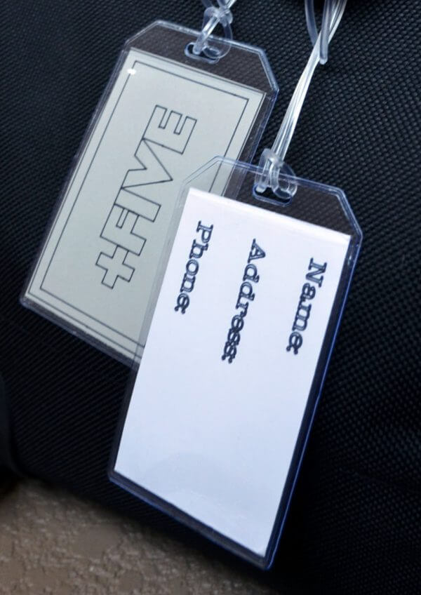 Luggage tags - plus five apparel - 2021