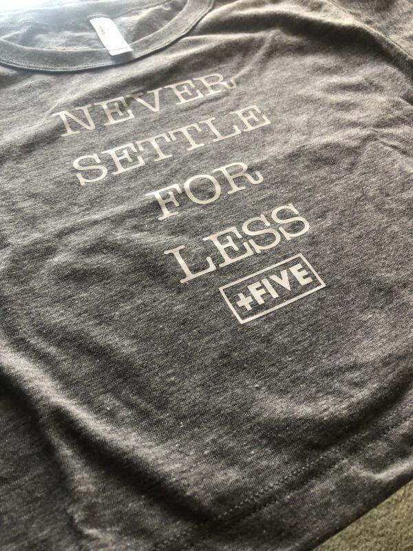 Never settle for less crop - plus five apparel - 2021