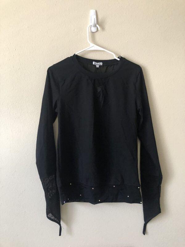 Mesh long sleeve shirt shinyhandz - plus five apparel - 2021