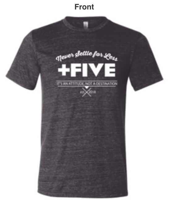 Plus five established men's tee - plus five apparel - 2021
