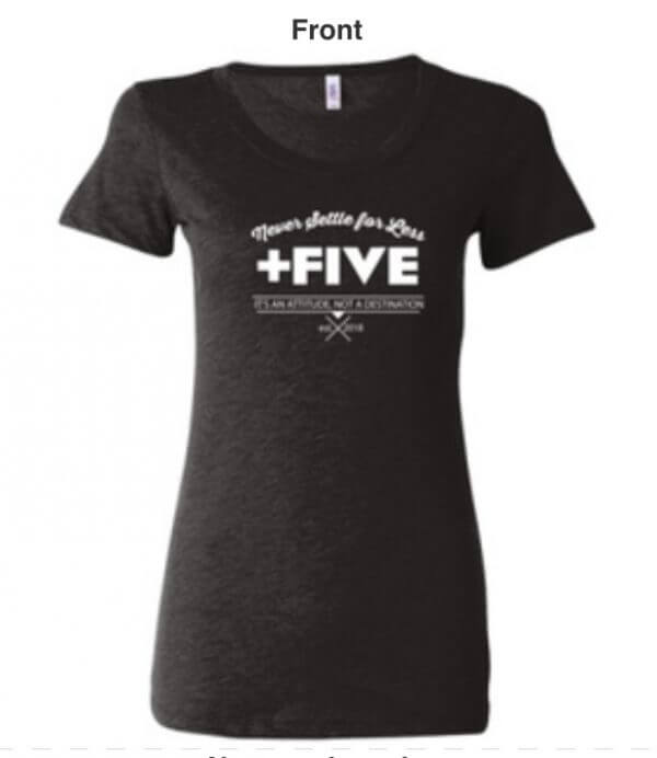 Plus five established women's tee - plus five apparel - 2021