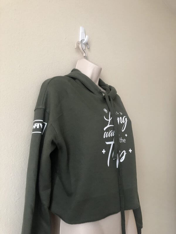 Long way to the top cropped hoodie - plus five apparel - 2021