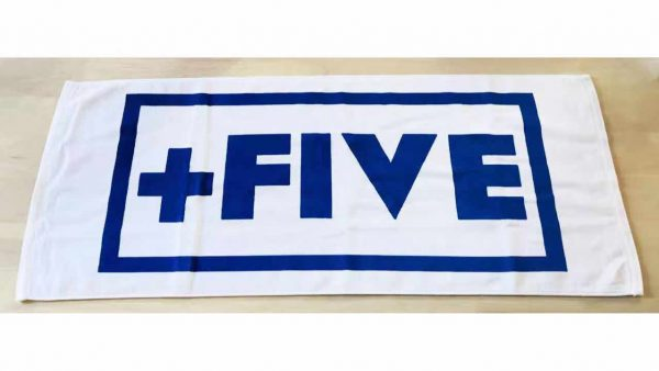 '+five rally towels - plus five apparel - 2021