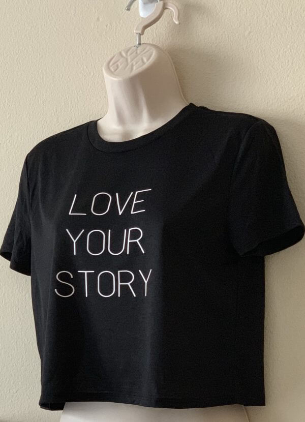 Love your story tee - plus five apparel - 2021