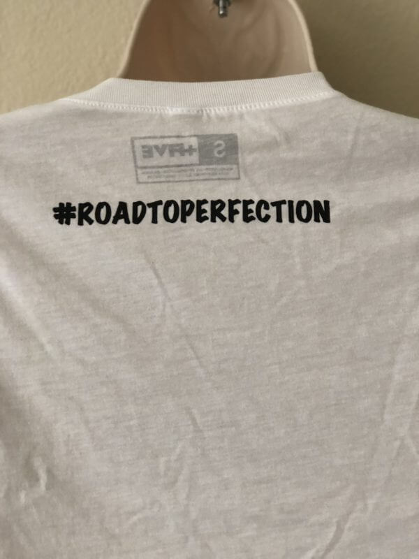 Essential women's white tee #roadtoperfection - plus five apparel - 2021