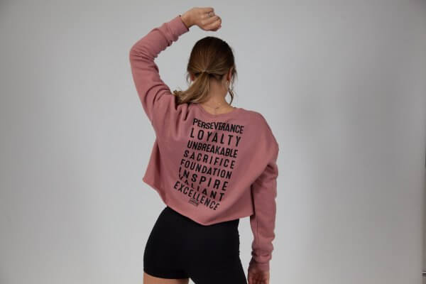 Wise words cropped sweater - plus five apparel - 2021