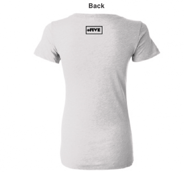 Logo nsfl women's white tee - plus five apparel - 2021